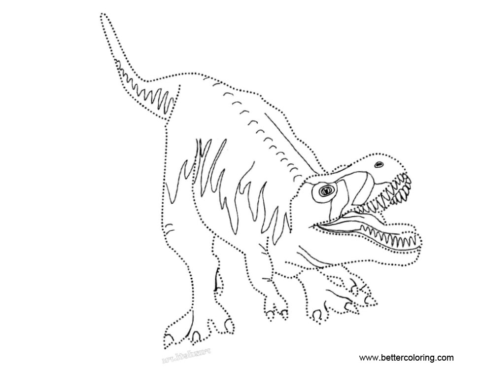 Free Jurassic World Coloring Pages T Rex printable