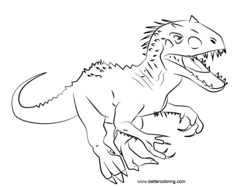 Free Jurassic World Coloring Pages printable