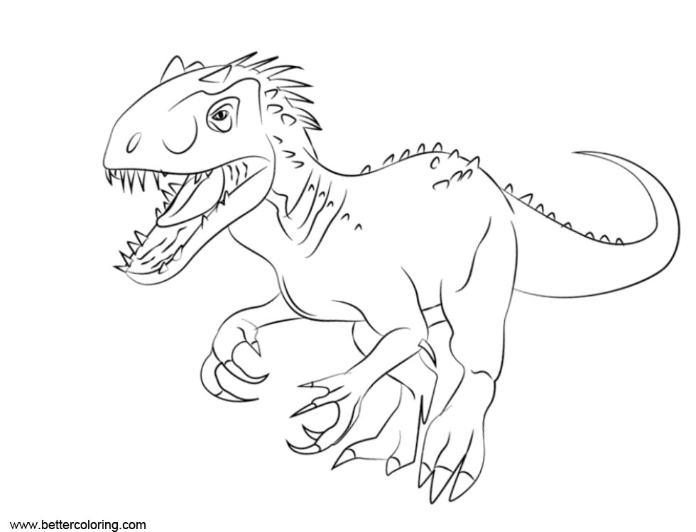 Jurassic World Fallen Kingdom Coloring Pages Indomius Rex ...