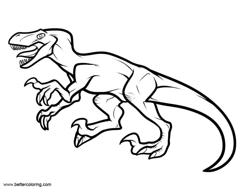 Free Jurassic World Fallen Kingdom Coloring Pages Line Drawing printable