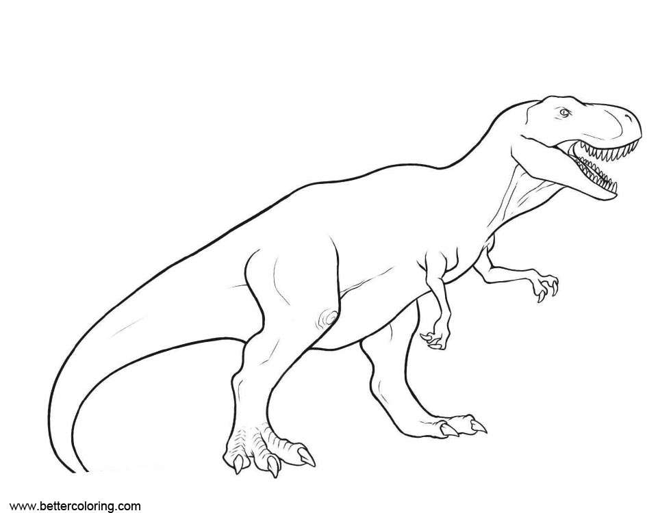 Free Jurassic World Fallen Kingdom Coloring Pages T Rex printable
