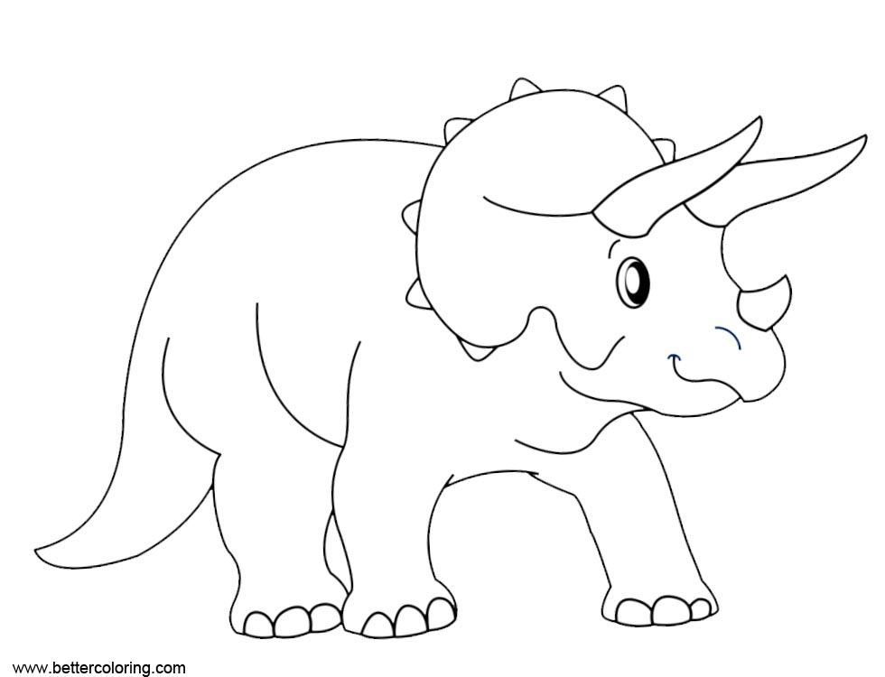Free Jurassic World Fallen Kingdom Coloring Pages Triceratops printable
