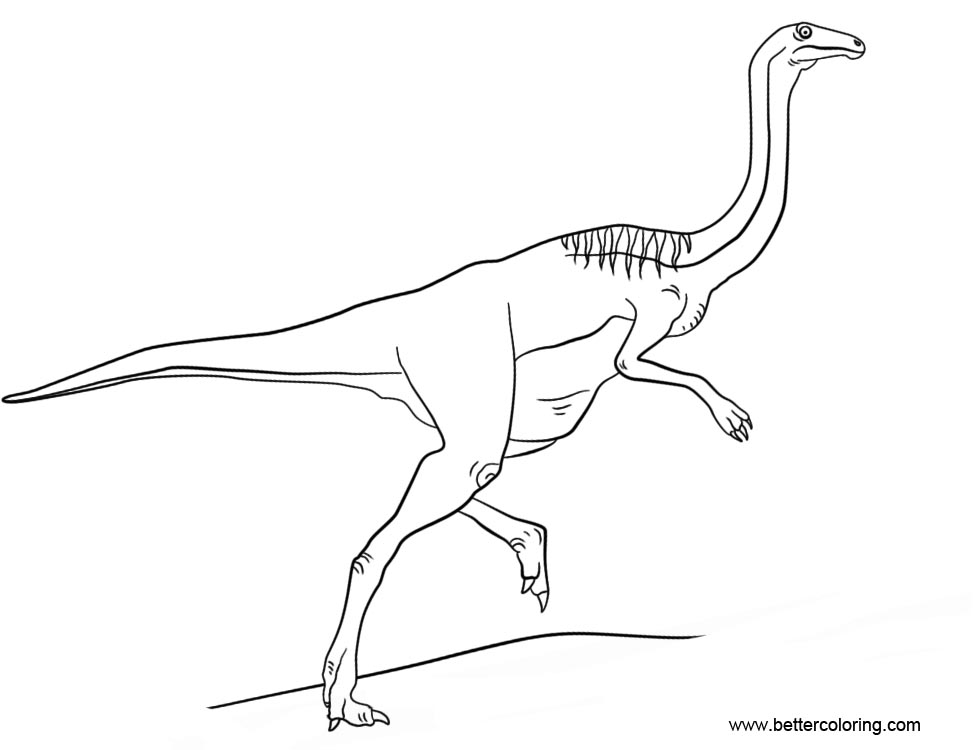 Jurassic World Gallimimus Coloring Pages Free Printable