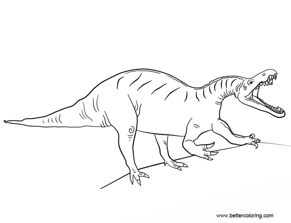 Free Jurassic World Suchomimus Coloring Pages printable