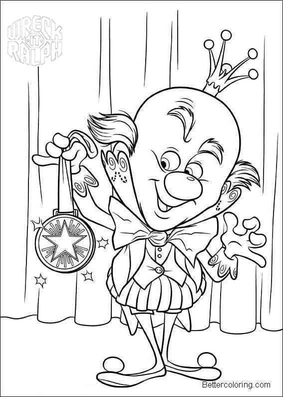 Wreck it ralph sugar rush characters coloring page