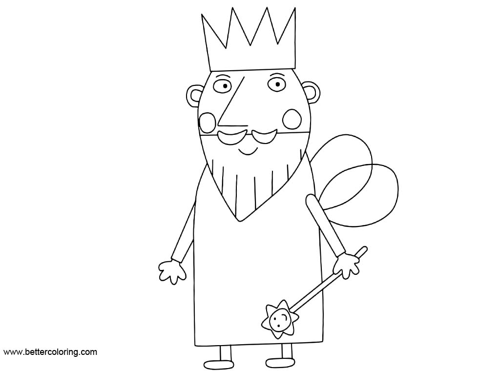 Free King from Ben And Holly Coloring Pages printable