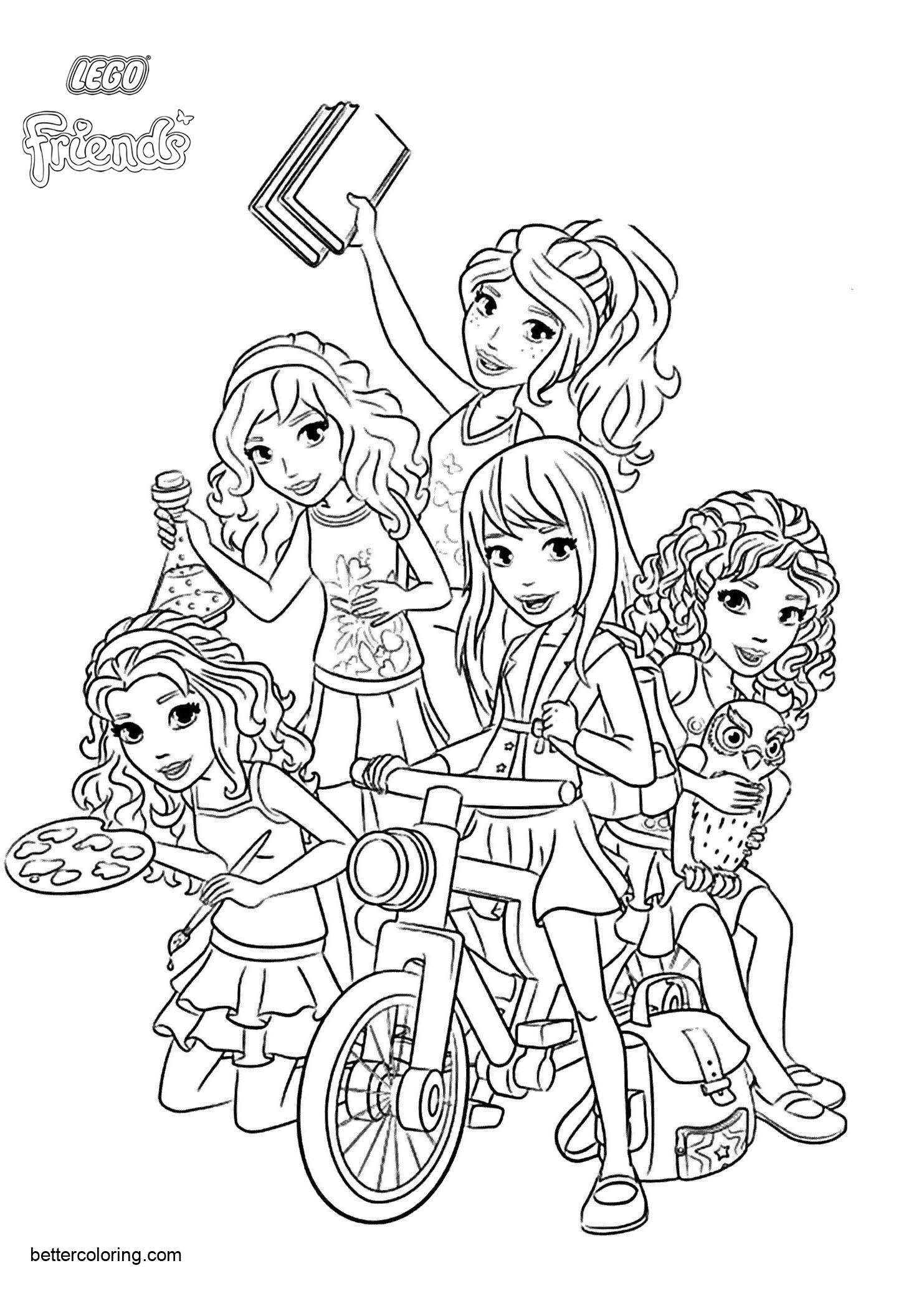 Free LEGO Friends Characters Coloring Pages printable