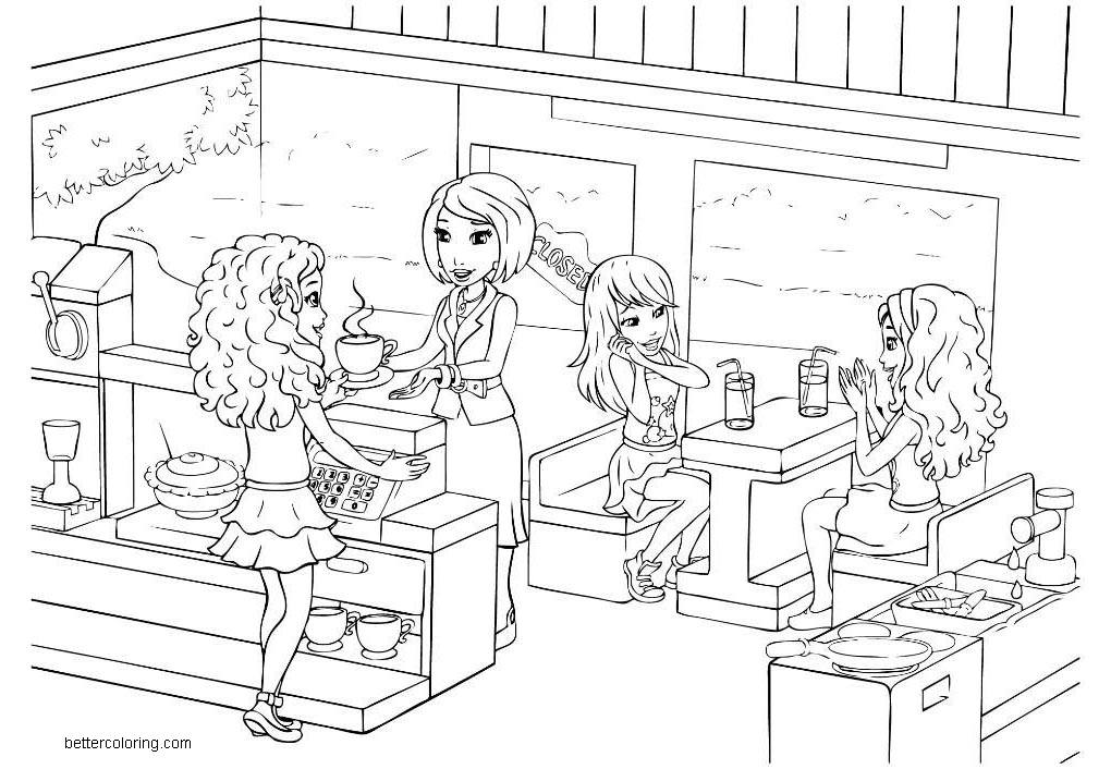Free LEGO Friends Coloring Page Line Art printable