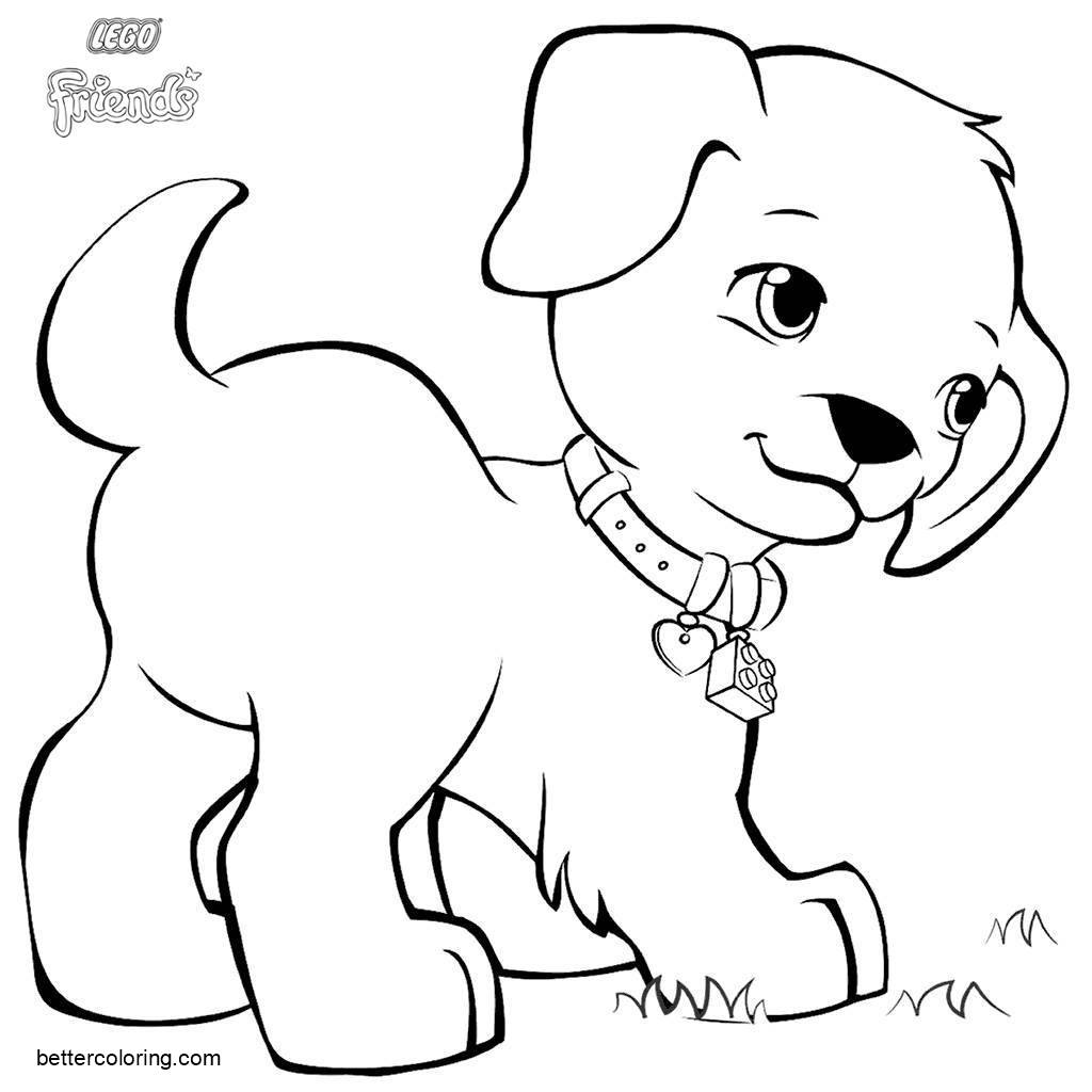 LEGO Friends Coloring Pages Animals Puppy Max Free