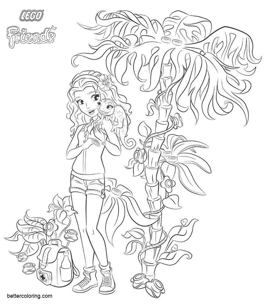 LEGO Friends Coloring Pages Girl Emma - Free Printable Coloring Pages
