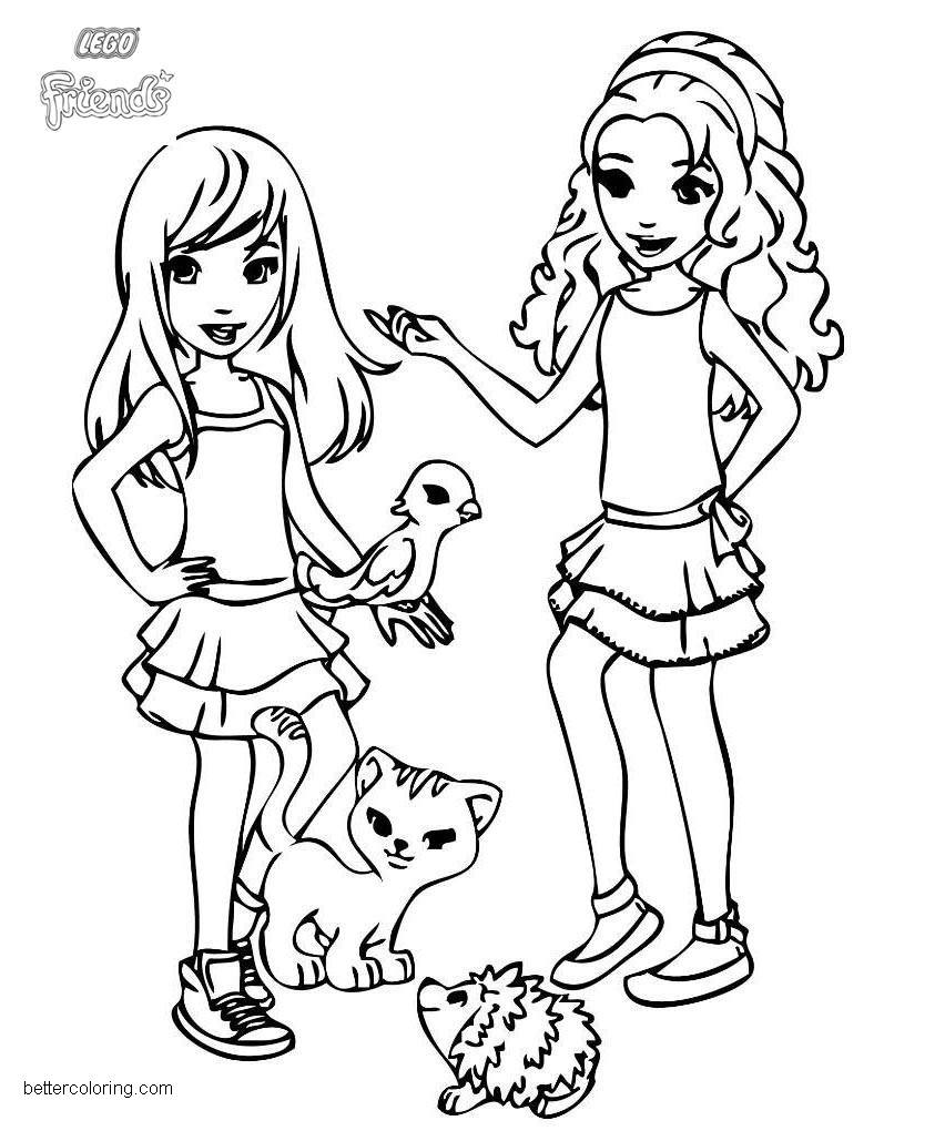 LEGO Friends Coloring Pages Pets