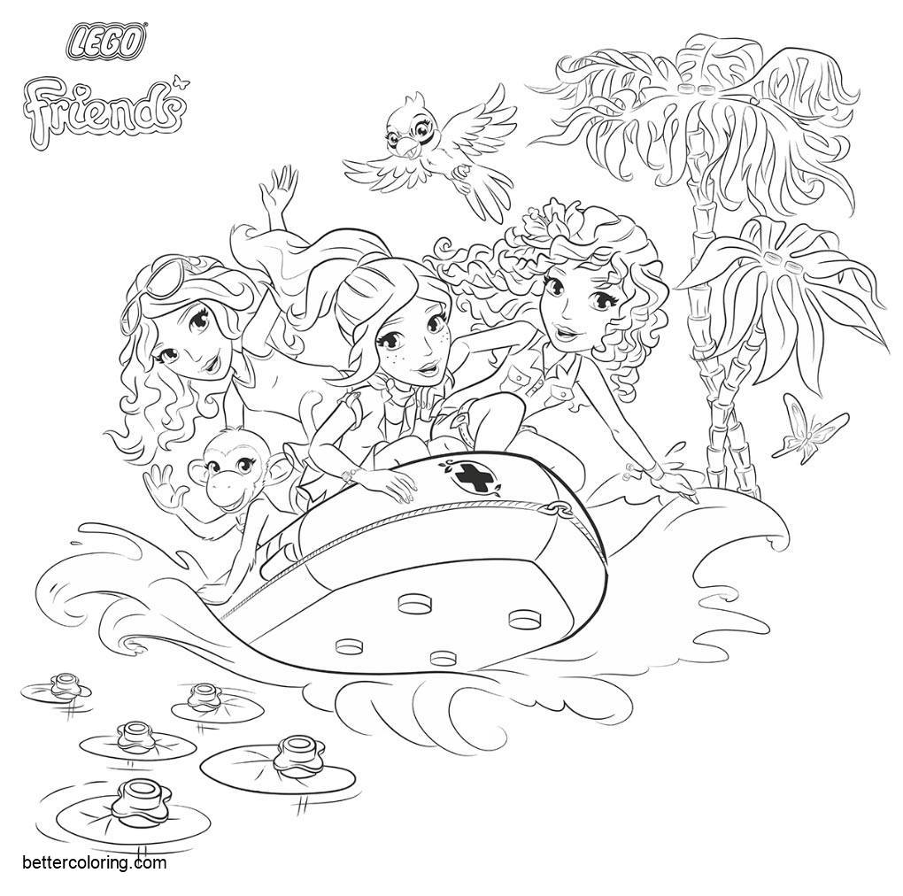 printable lego friends coloring pages - Master Coloring Pages