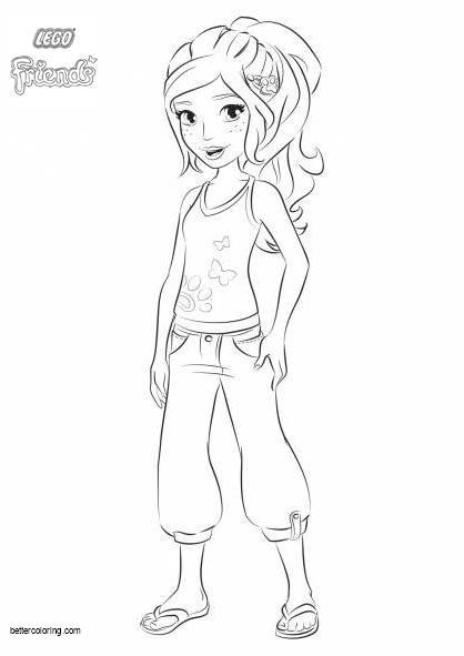 Free LEGO Friends Mia Coloring Pages printable