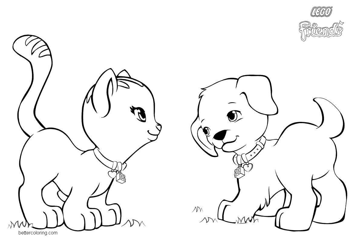 Free LEGO Friends Pets Coloring Pages printable