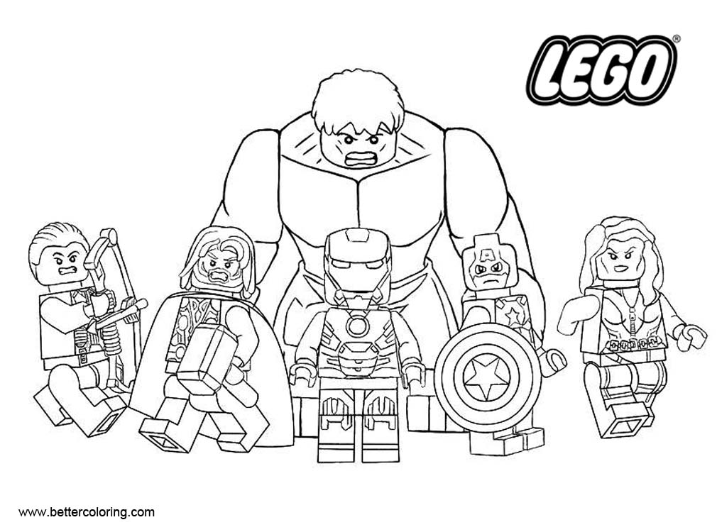 Superhero Thanos Coloring Pages: LEGO Marvel Superhero Coloring Pages