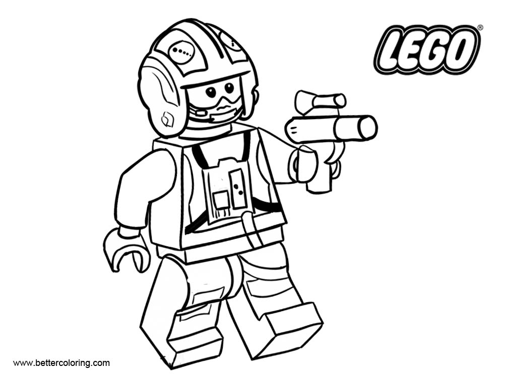 free lego coloring pages star wars | LEGO Star Wars Coloring Pages Black and White - Free ...