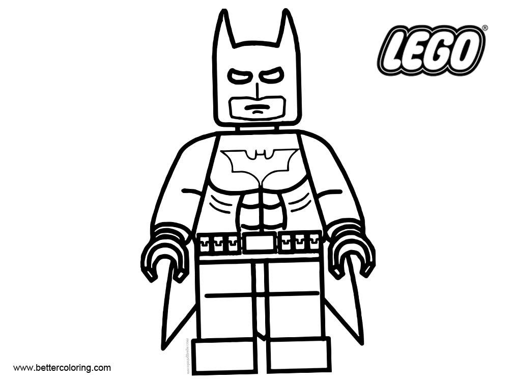 LEGO Superhero Batman Coloring Pages Free Printable