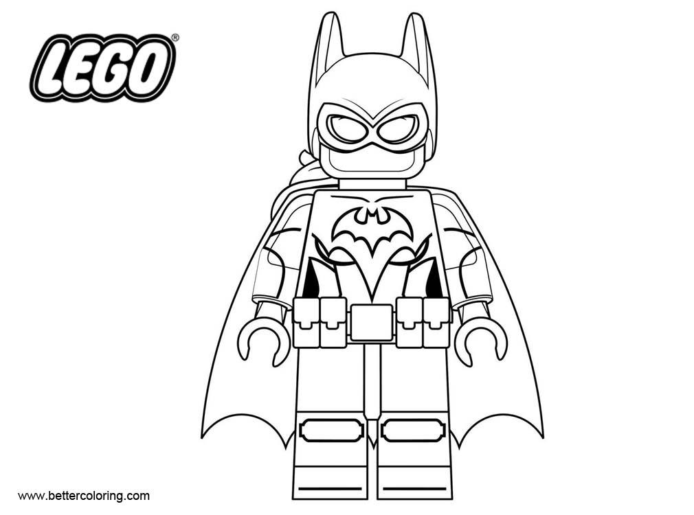 Free LEGO Superhero Coloring Pages Batman Line Drawing printable