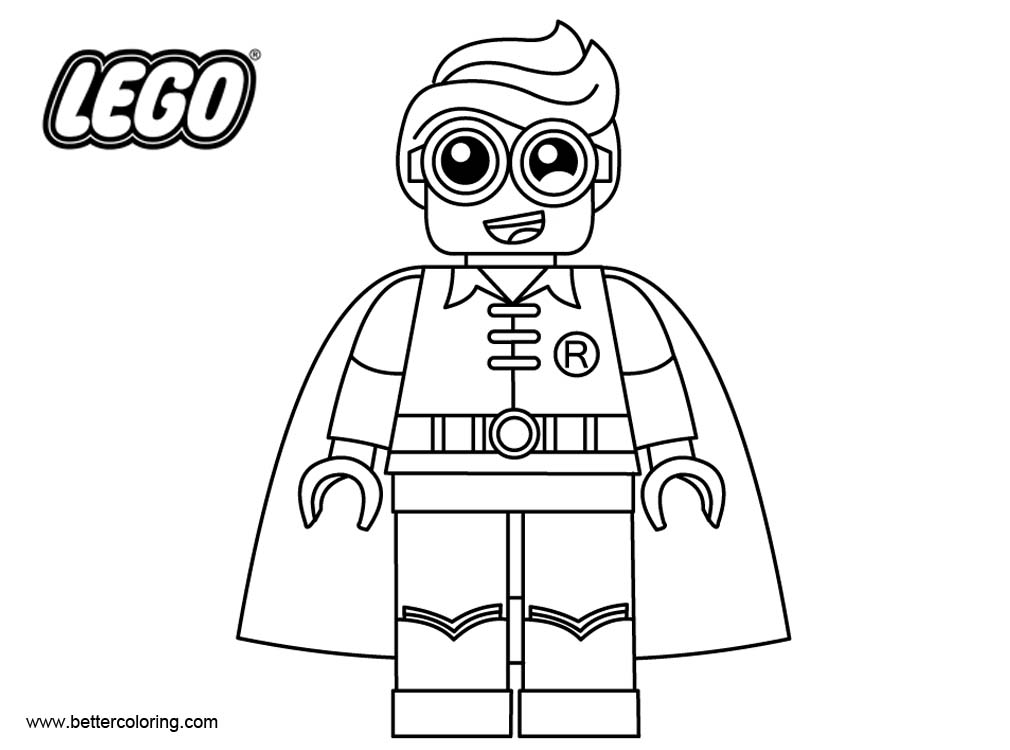 robin coloring pages batman free - photo#38