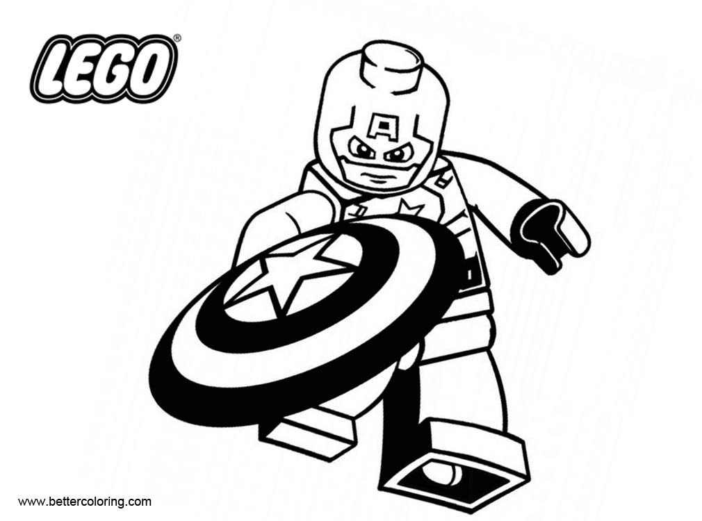 Lego Marvel Coloring Pages To Download And Print For Free: LEGO Superhero Coloring Pages Captain America