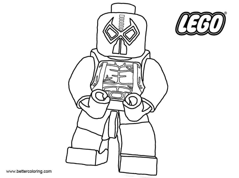 Free LEGO Superhero Coloring Pages Dead Pool printable