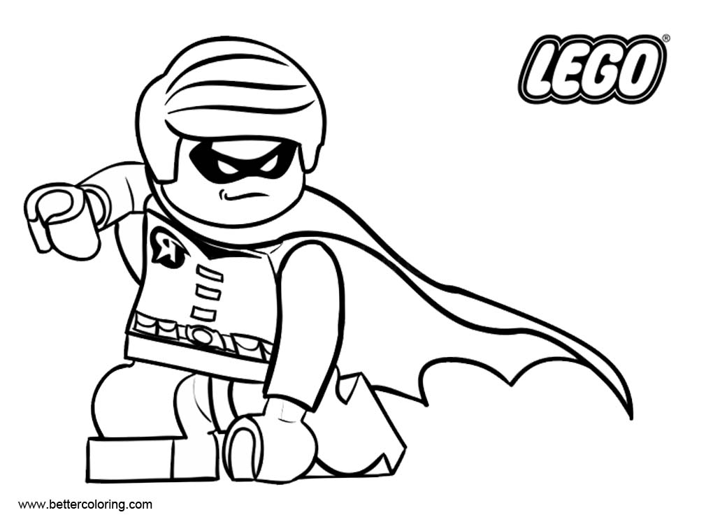 LEGO Superhero Coloring Pages Line Drawing - Free Printable Coloring ...