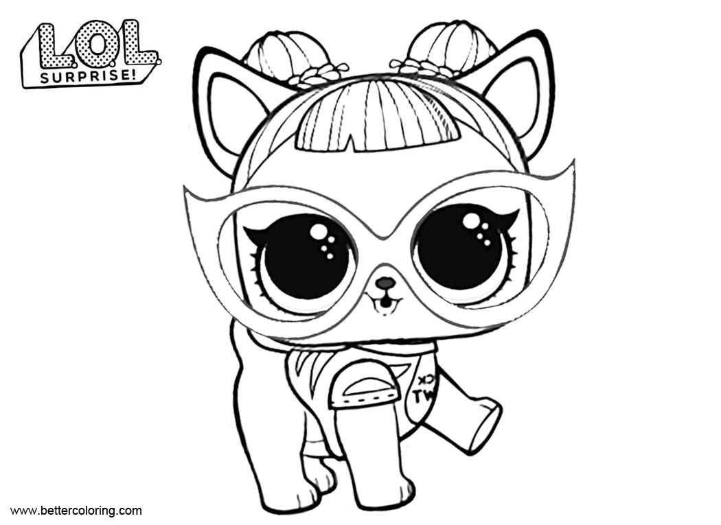 Free LOL Pets Coloring Pages Baby Dog printable