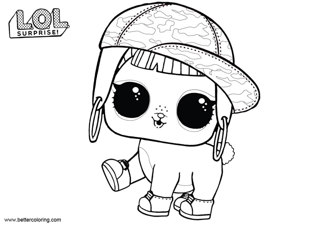 Free LOL Pets Coloring Pages Bunny Hun printable