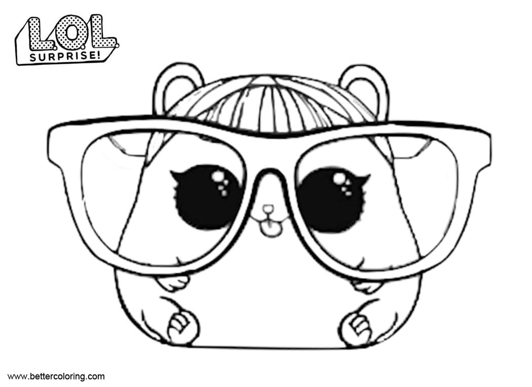 Free LOL Pets Coloring Pages Cherry Ham printable