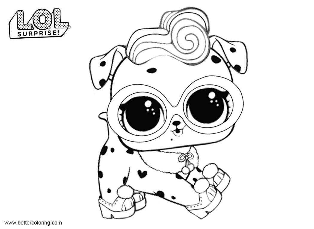 Free LOL Pets Coloring Pages Dollmatian printable