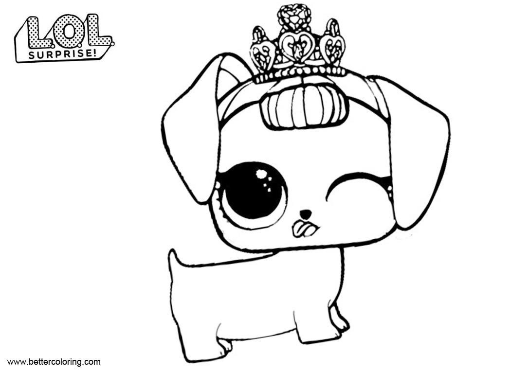 Free LOL Pets Coloring Pages Fancy Haute Dog printable
