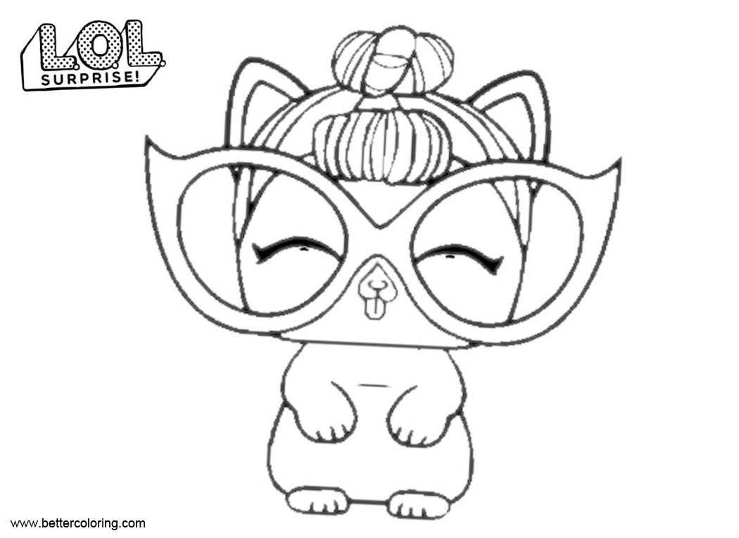 Free LOL Pets Coloring Pages It Kitty printable