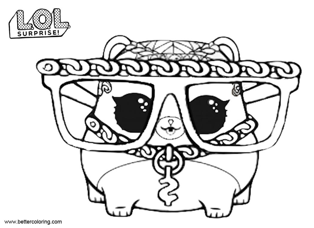 Free LOL Pets Coloring Pages M C Hammy printable