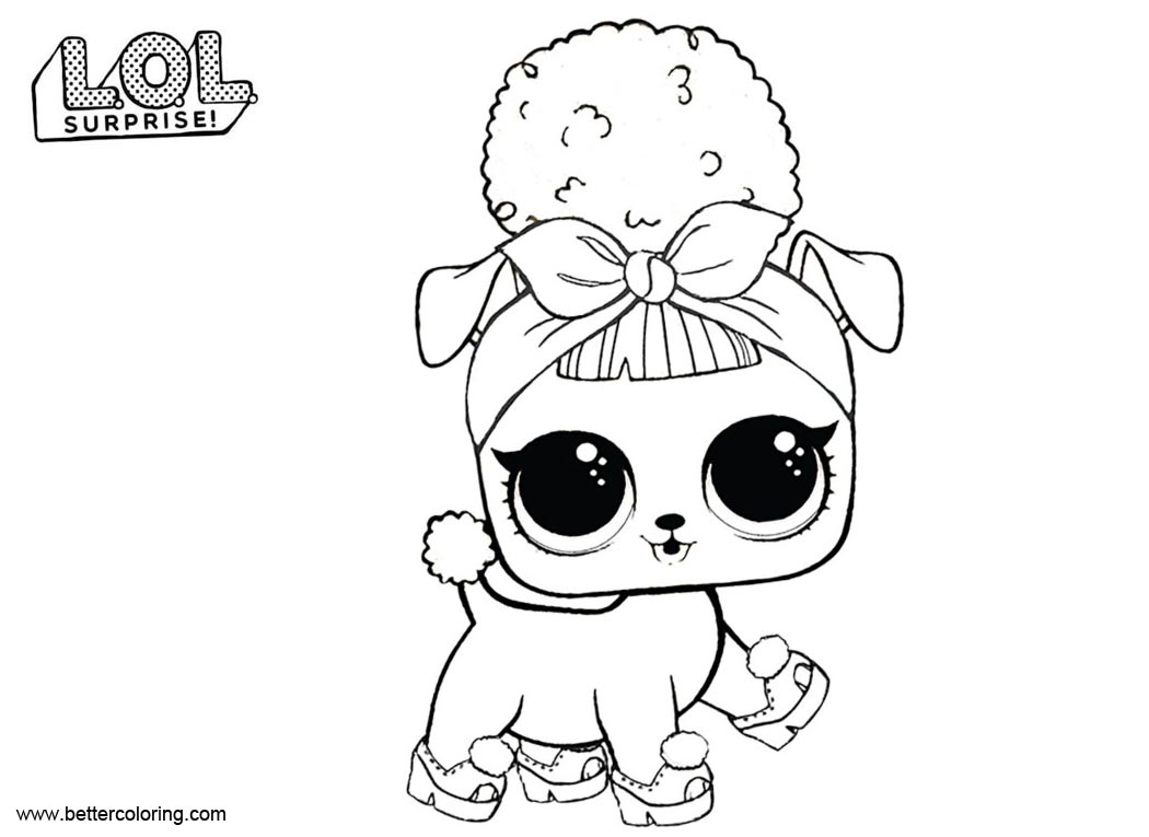 Free LOL Pets Coloring Pages Pup Bee printable