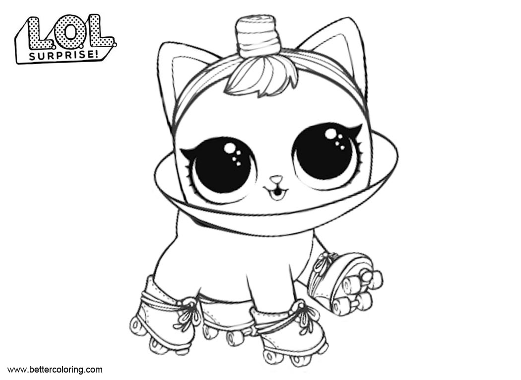 Free LOL Pets Coloring Pages Roller Kit10 printable