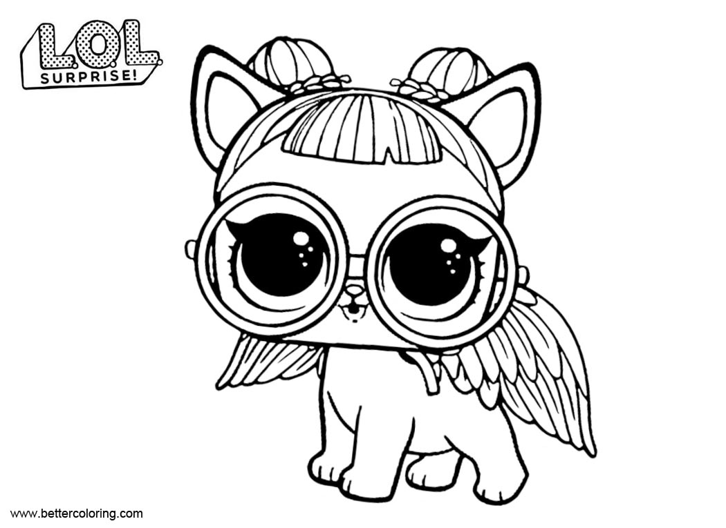 Free LOL Pets Coloring Pages Sugar Pup printable