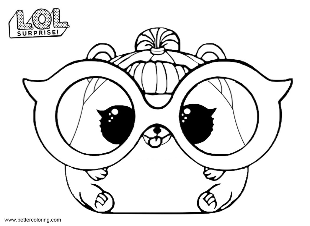 Free LOL Pets Coloring Pages Trouble Squeaker printable