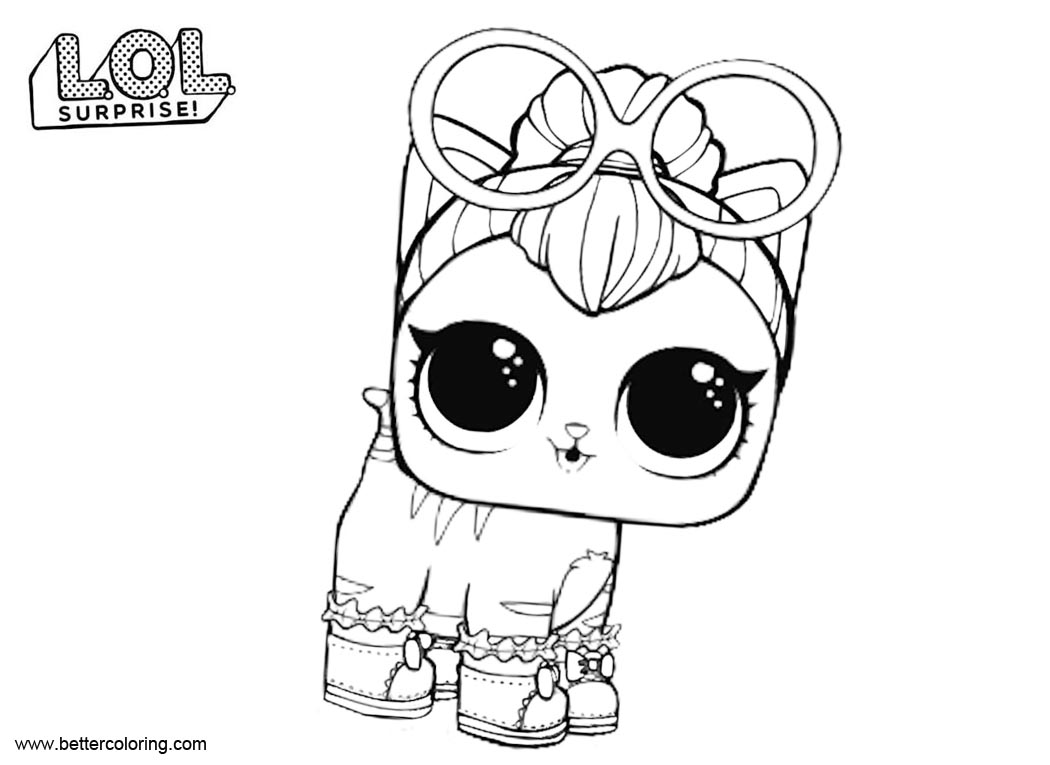Free LOL Pets Surprise Coloring Pages Neon Kitty printable