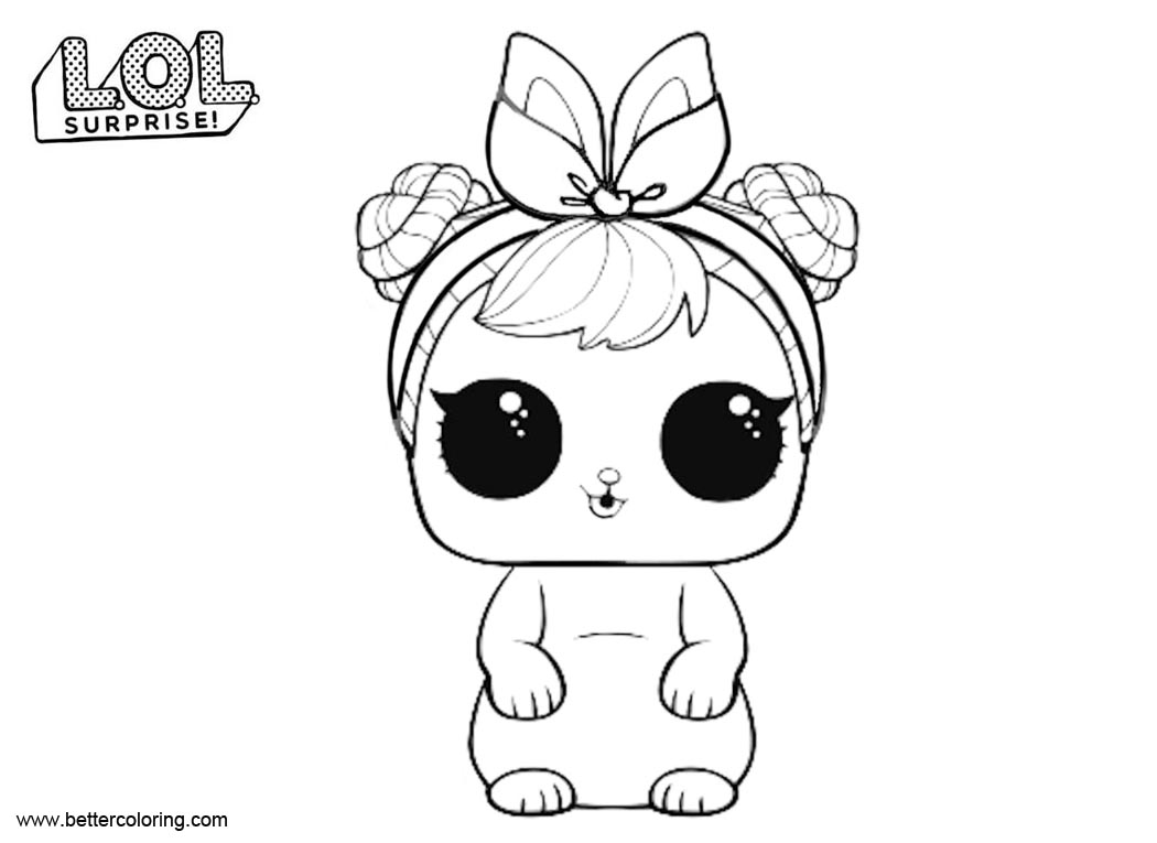 Free LOL Surprise Pets Coloring Pages Cottontail QT printable