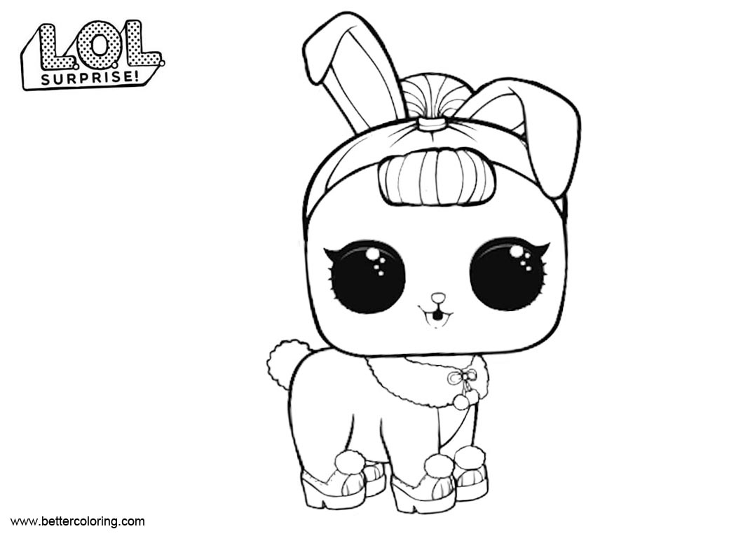 Free LOL Surprise Pets Coloring Pages Crystal Bunny printable