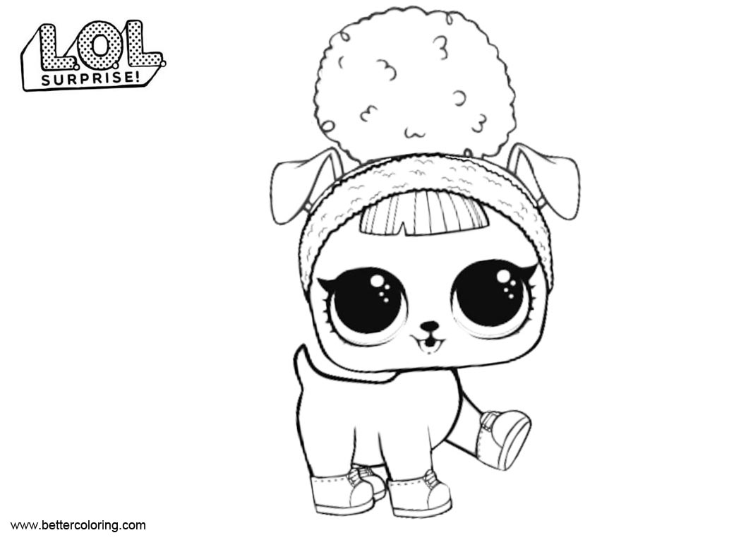 Free LOL Surprise Pets Coloring Pages Hoops DOGG printable