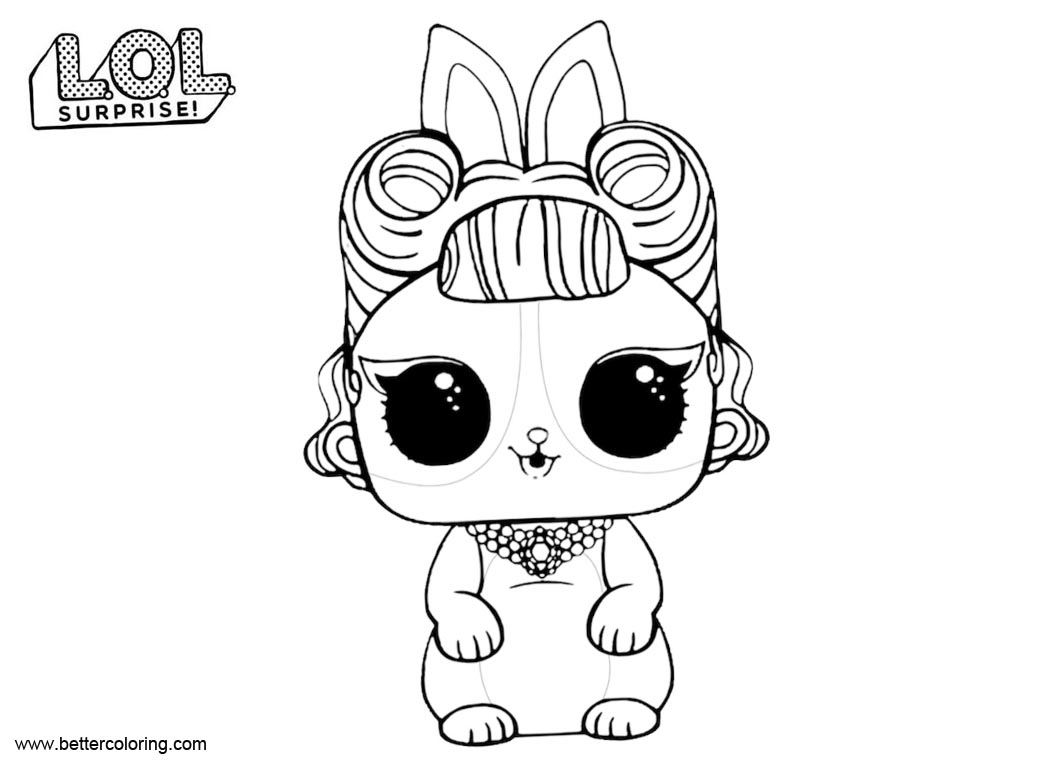 Free LOL Surprise Pets Coloring Pages Jitter Critter printable