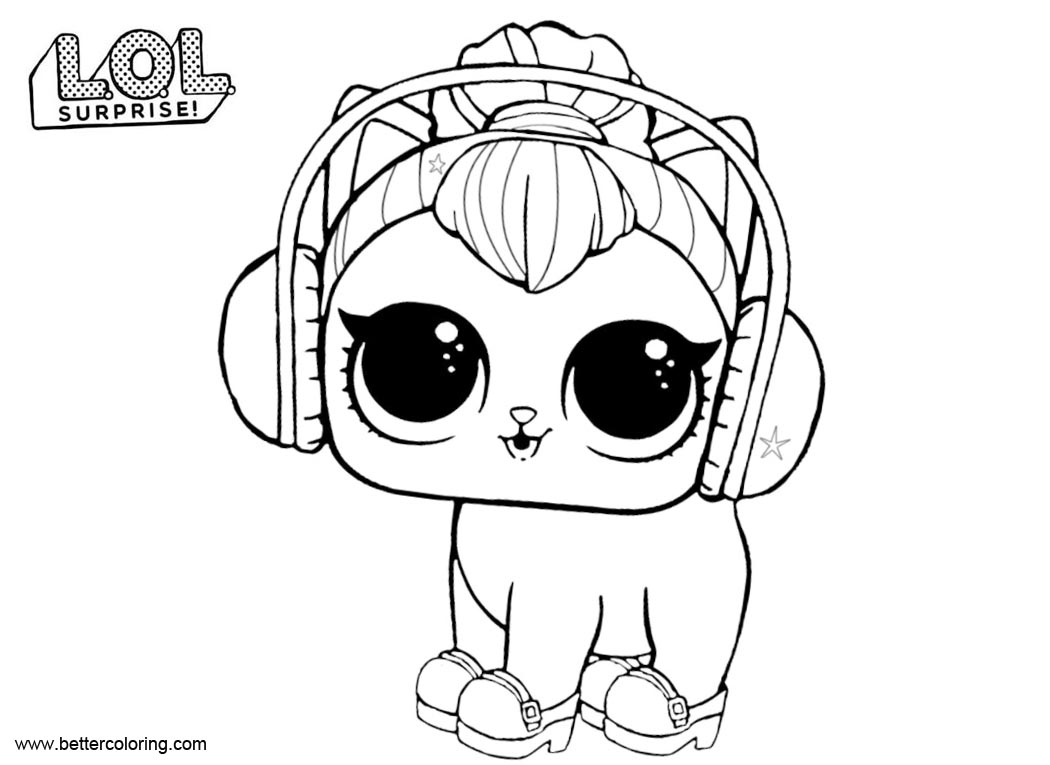 LOL Surprise Pets Coloring Pages Kitty Kitty - Free ...