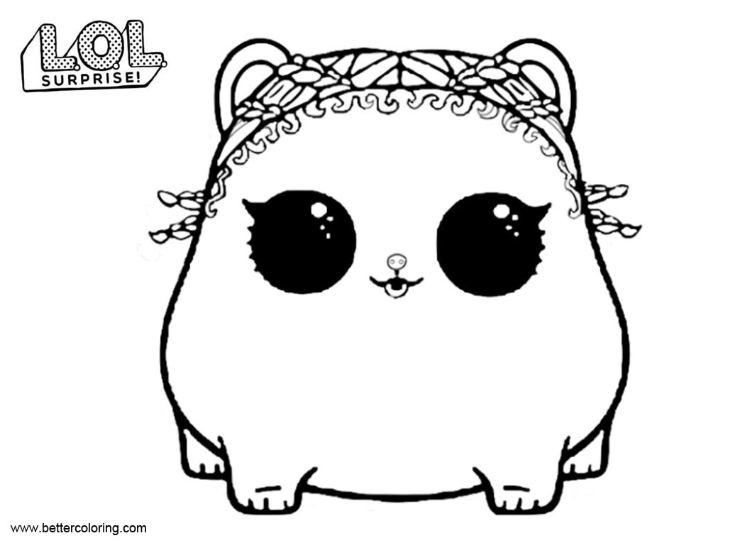 Free LOL Surprise Pets Coloring Pages Rolls printable
