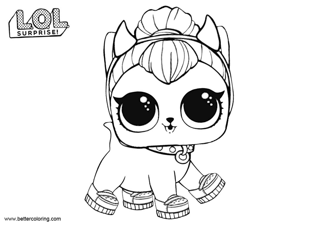 Free LOL Surprise Pets Coloring Pages printable