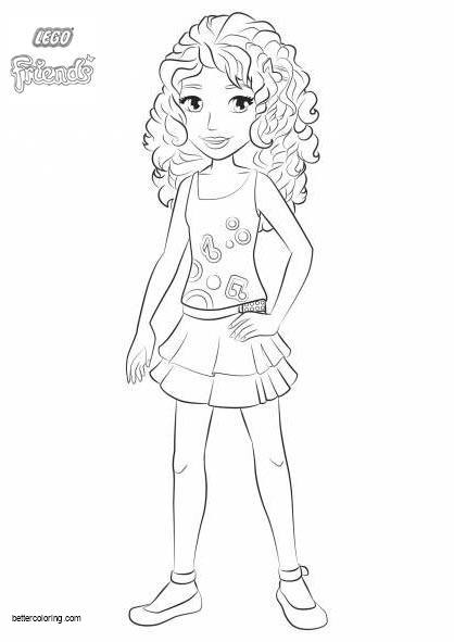 Free Lego Friends Coloring Pages Girl Andrea printable