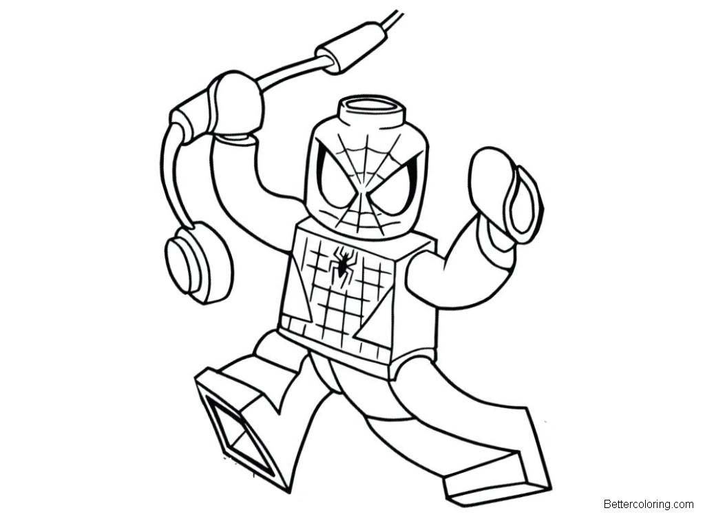 Lego Spiderman Homeing Coloring Pages Free Printable