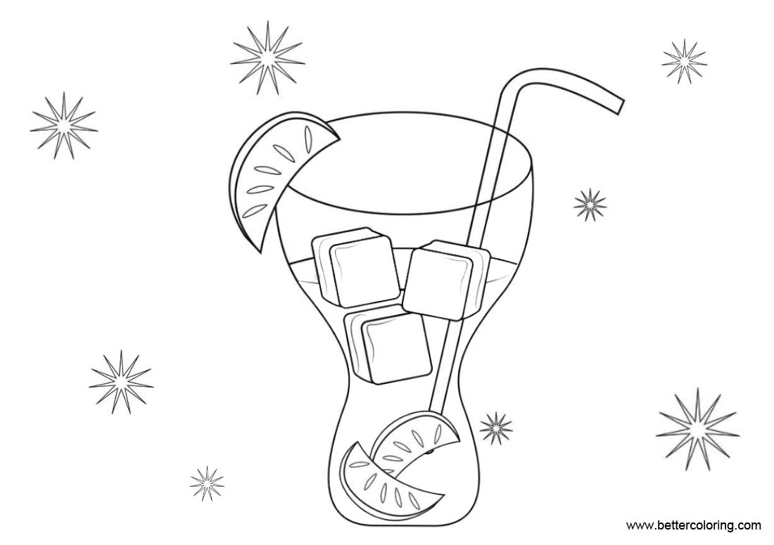 Free Lemonade Coloring Pages Black and White printable