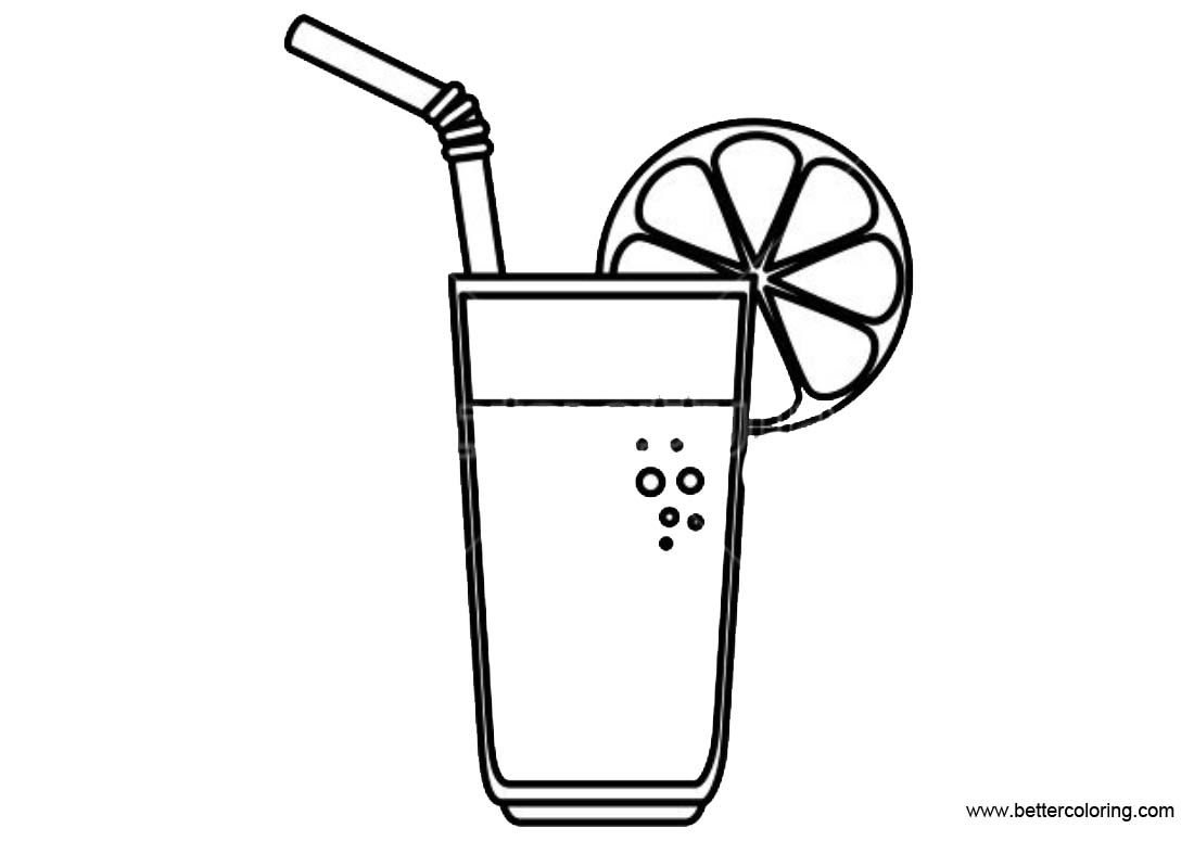 Free Lemonade Coloring Pages Fruit Jucice printable