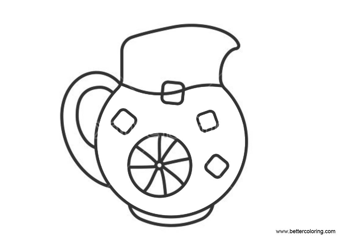 Free Lemonade Coloring Pages Juice in Bottle printable